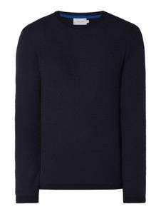 Granatowy sweter Calvin Klein z wełny