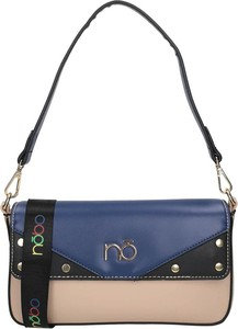 Niebieska torebka NOBO na ramię matowa średnia