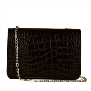 Czarna torebka Borse in Pelle w stylu glamour