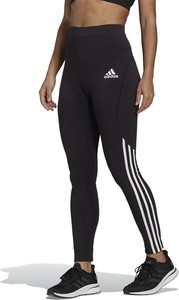 Czarne spodnie Adidas w sportowym stylu z dzianiny