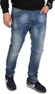 Niebieskie jeansy Glo-Story z jedwabiu w street stylu