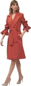 Czerwony płaszcz Nife w stylu casual