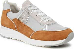 Buty sportowe Caprice z zamszu sznurowane