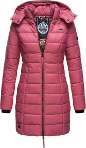Różowa kurtka Marikoo długa