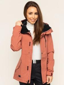 Różowa kurtka Volcom w stylu casual