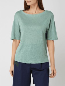 Zielony t-shirt MaxMara z okrągłym dekoltem w stylu casual z krótkim rękawem