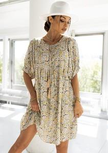 Sukienka Latika w stylu casual z okrągłym dekoltem