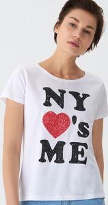 T-shirt House z okrągłym dekoltem z krótkim rękawem