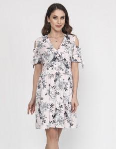 Sukienka Milena Płatek mini z dekoltem w kształcie litery v