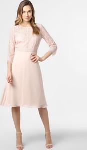 Sukienka comma, midi z okrągłym dekoltem z długim rękawem