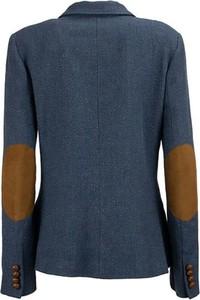 Niebieska marynarka Ralph Lauren krótka z bawełny