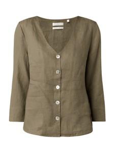 Bluzka Christian Berg Women z lnu z długim rękawem w stylu casual