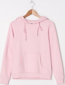 Różowa bluza House krótka w stylu casual