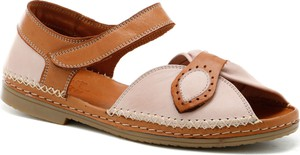 Sandały Manitu z klamrami ze skóry