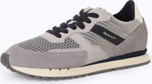 Buty sportowe Gant z tkaniny sznurowane w sportowym stylu
