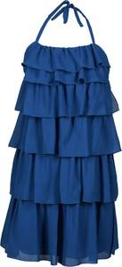Sukienka Fokus z szyfonu z dekoltem halter