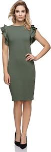 Sukienka sukienki.pl z okrągłym dekoltem ołówkowa