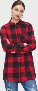 Czerwona koszula Cropp z długim rękawem w stylu casual
