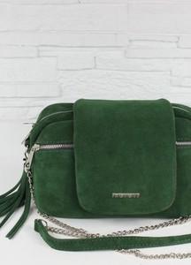 Zielona torebka Fabiola ze skóry