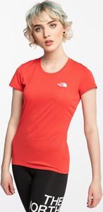 T-shirt The North Face z okrągłym dekoltem w sportowym stylu z krótkim rękawem