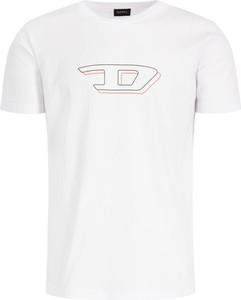 T-shirt Diesel z nadrukiem z krótkim rękawem