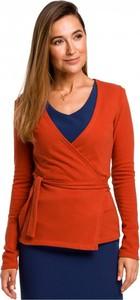 Czerwony sweter Style z dzianiny