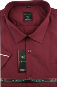Czerwona koszula Laviino z klasycznym kołnierzykiem