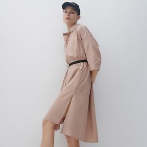 Sukienka Reserved w stylu casual z długim rękawem z kołnierzykiem