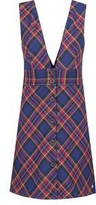 Sukienka Pepe Jeans bez rękawów w stylu casual z dekoltem w kształcie litery v