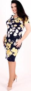 Sukienka Oscar Fashion mini prosta z krótkim rękawem