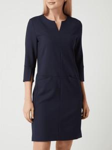 Granatowa sukienka S.Oliver Black Label z długim rękawem mini w stylu casual