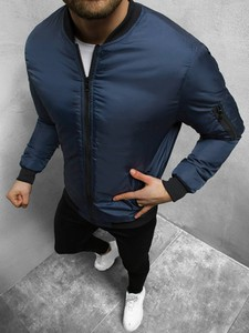 Niebieska kurtka ozonee.pl krótka w stylu casual
