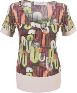 Bluzka Fokus w stylu casual z okrągłym dekoltem