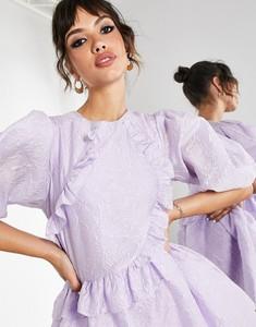 Sukienka Asos mini w stylu casual z okrągłym dekoltem