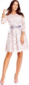 Sukienka 76 Avenue rozkloszowana z długim rękawem mini