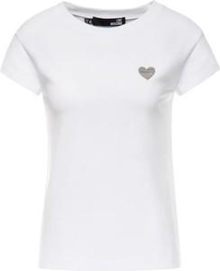 T-shirt Love Moschino z okrągłym dekoltem z nadrukiem w stylu casual
