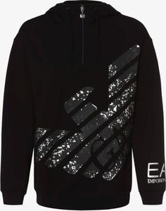 Czarna bluza Emporio Armani w stylu casual krótka