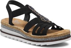 Sandały Rieker z klamrami w stylu casual