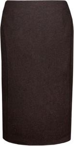 Brązowa spódnica Fokus midi z wełny