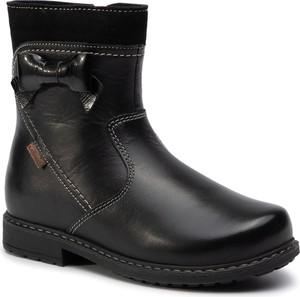 Czarne buty dziecięce zimowe Lasocki Kids na zamek