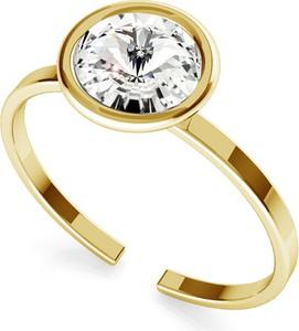 GIORRE Srebrny pierścionek z kryształem Rivoli My RING™ 925 : Kolor kryształu SWAROVSKI - Crystal, Kolor pokrycia srebra - Pokrycie Żółtym 24K Złotem