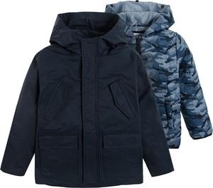 Granatowa kurtka dziecięca Cool Club dla chłopców z bawełny