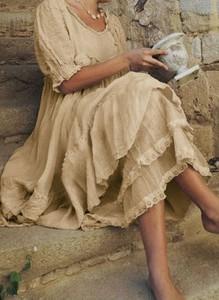 Sukienka Cikelly z długim rękawem mini z okrągłym dekoltem