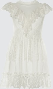 Sukienka Trendyol midi rozkloszowana z okrągłym dekoltem