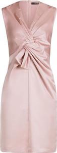 Różowa sukienka Vera Mont z dekoltem w kształcie litery v mini bez rękawów