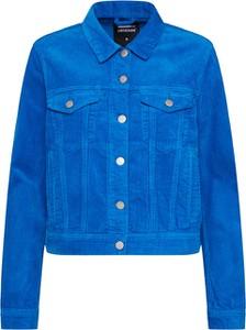 Niebieska kurtka Dr.Denim w stylu casual ze sztruksu