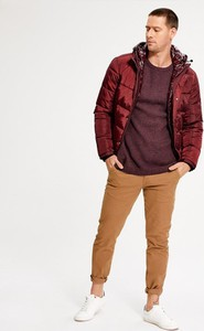 Czerwony sweter Diverse z bawełny w stylu casual