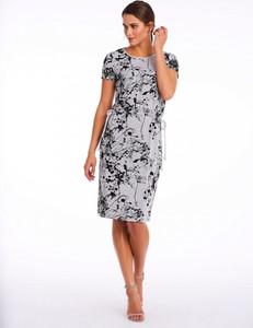 Sukienka POTIS & VERSO z tkaniny z okrągłym dekoltem