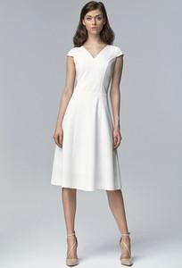 Sukienka NIFE z krótkim rękawem z bawełny midi