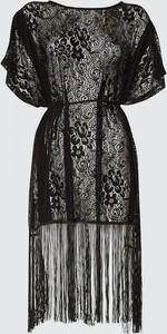 Trendyol Black Lacy Kimono&Kaftan